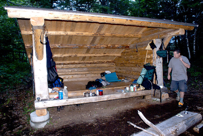Shelter at north end of Wassataquoit Lake.