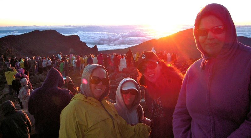 Sunrise on Haleakala... worth the early dawn trek for sure :)