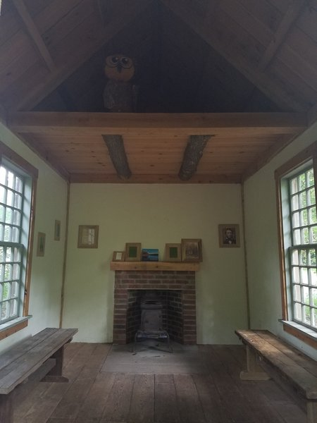 "Replica of Thoreau's ""Walden"" cabin"