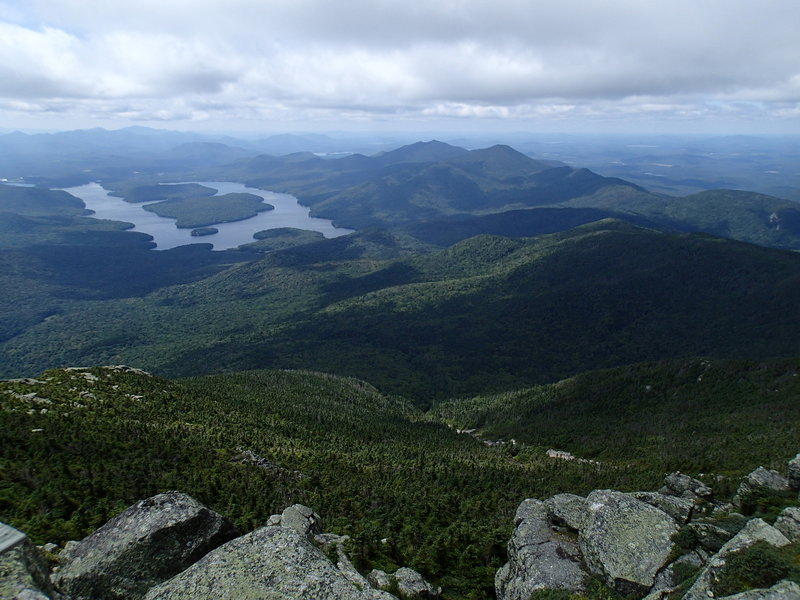 View of Lake Placid from the summit.