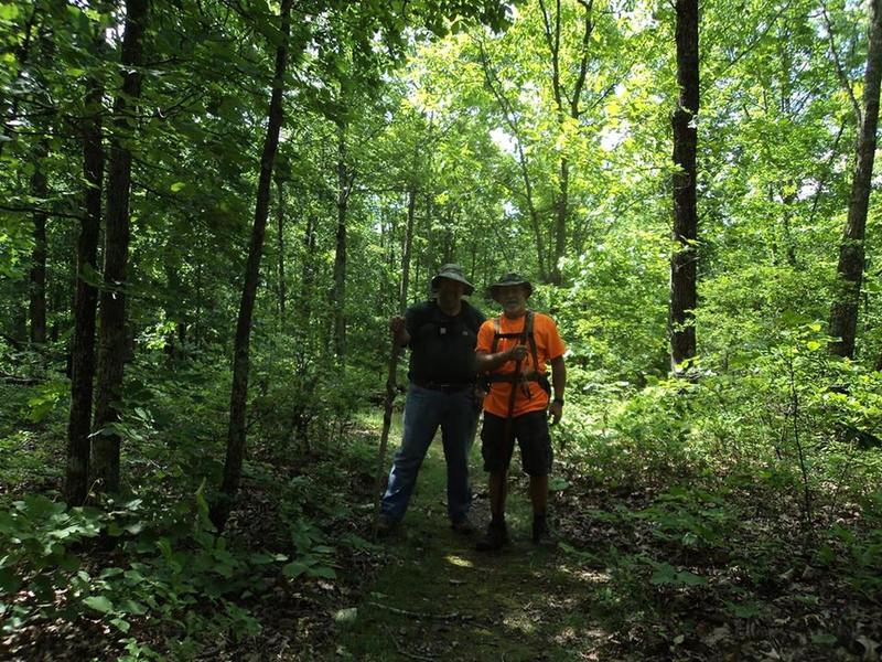 A quick pose for a trail selfie; Jamski on the left, Dr. Love on the right...