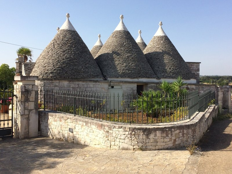 Trulli--traditional style house where no mortar is used in the roof