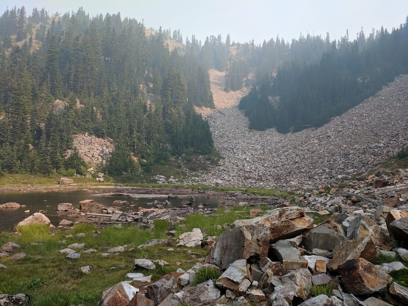 Red Pond (Smoke Haze from Jolly Mountain Fire)