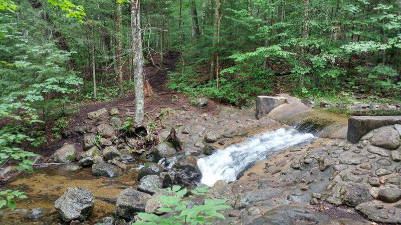 Manmade dam at 2.5 miles