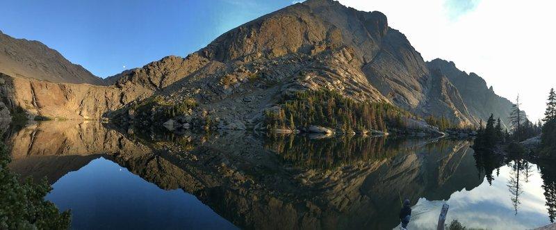 Willow Lake moonrise.