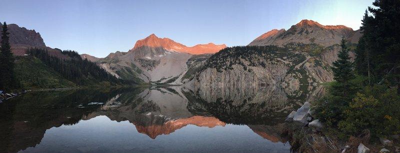Snowmass Lake sunrise.