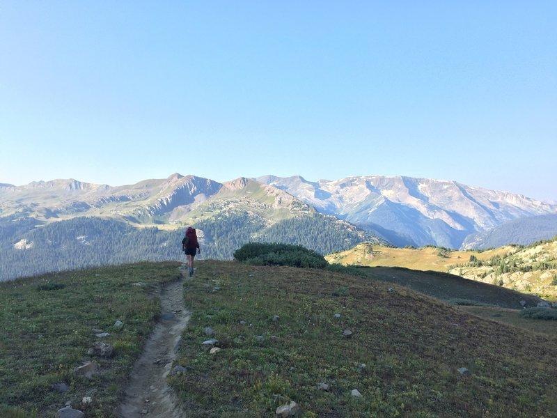 Heading down the Geneva Lake Trail.