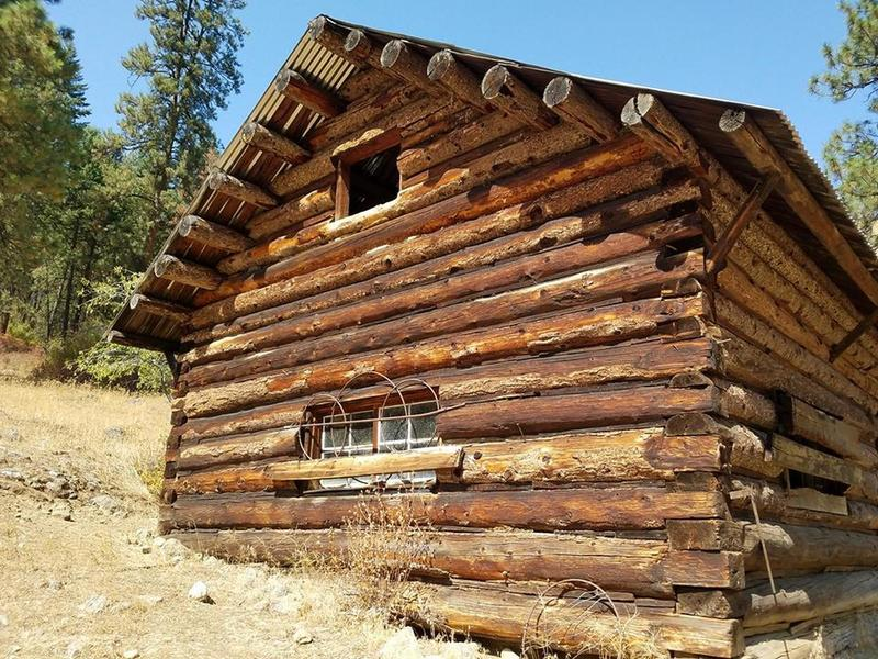 McCree Cabin (United States Property - No trespassing). Emergency shelter and supplies inside.