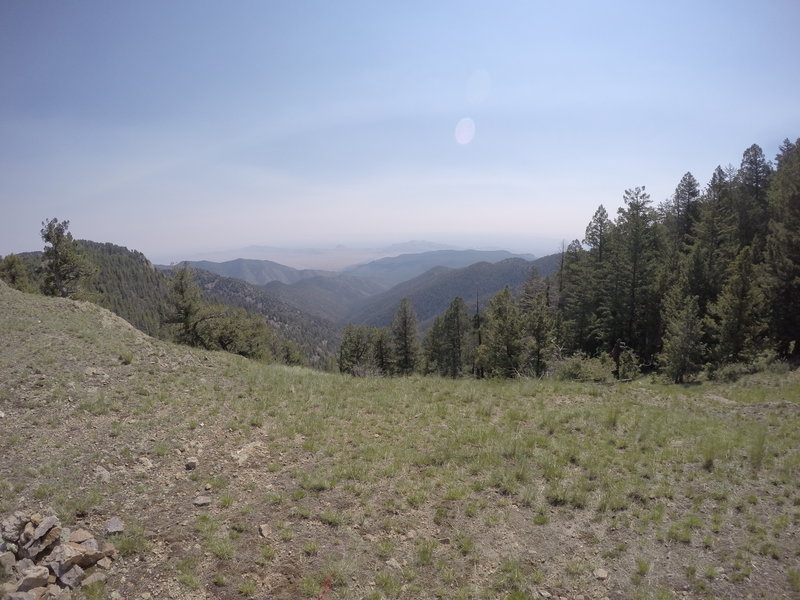 View from the top of Trail 10 - Copper Canyon. It was hazy today.