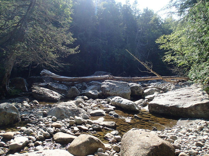 First crossing point for Indian Pass Brook.