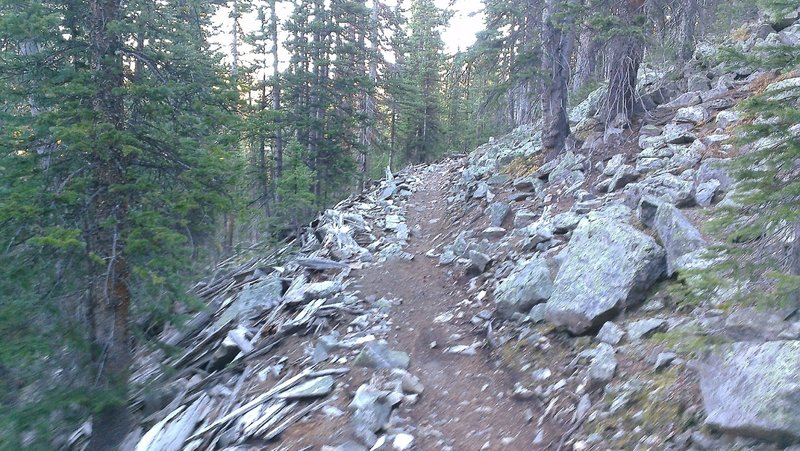 Great Flume Trail passes through several rocky, technical sections.