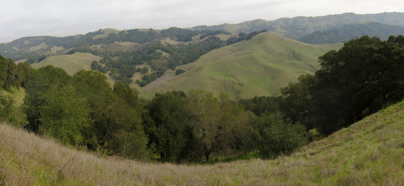 Morgan Territory view from Mount Diablo State Park Oyster Point Trail.