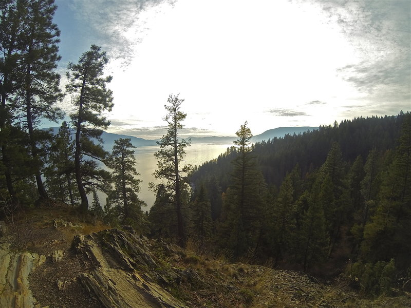 Looking southward over Lake Pend Oreille.