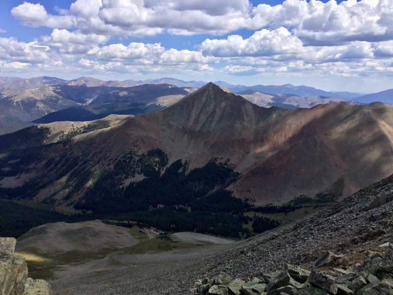 View on Mt Guyot from Mt Bold.