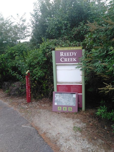 Reedy Creek trailhead at Meredith College