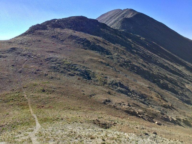 A steep trail to Bald Mountain.