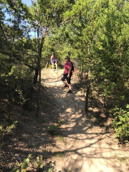 The 1886 Trail at Quanah Hill has some surprisingly steep uphill grades creating a good cardio workout.