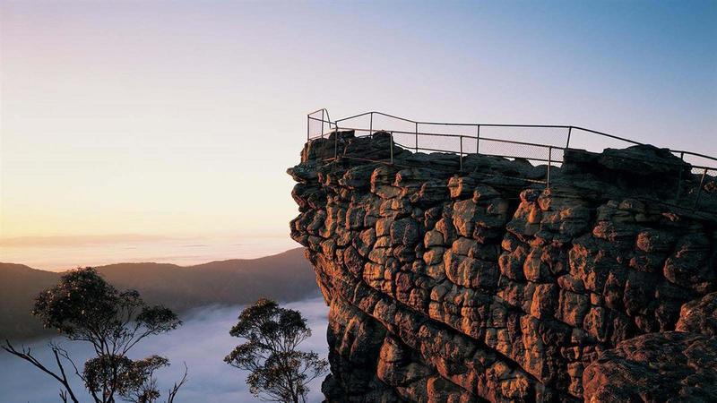 Mist in the valley below The Pinnacle.