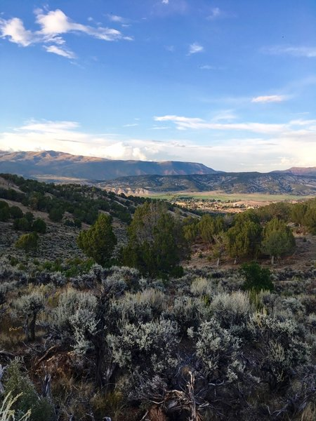 View of Eagle Ranch from top of the second climb - between Abrams Creek and Hernage Creek.