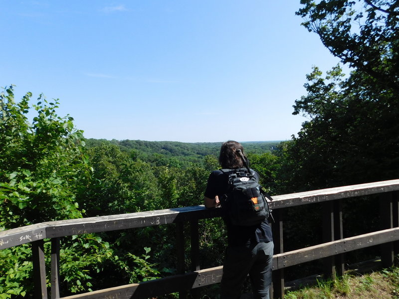 The Overlook on Lookout Trail at Camden State Park.