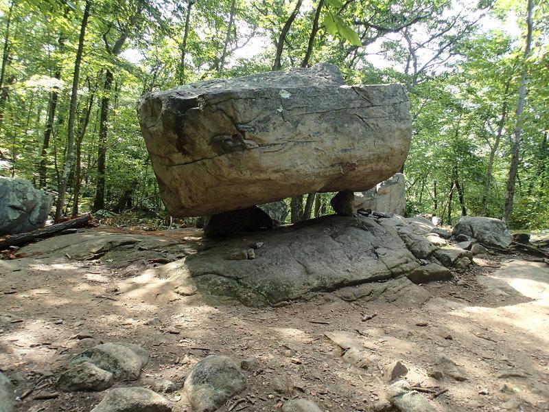 Tripod Rock along the Kinnelon Butler Trail