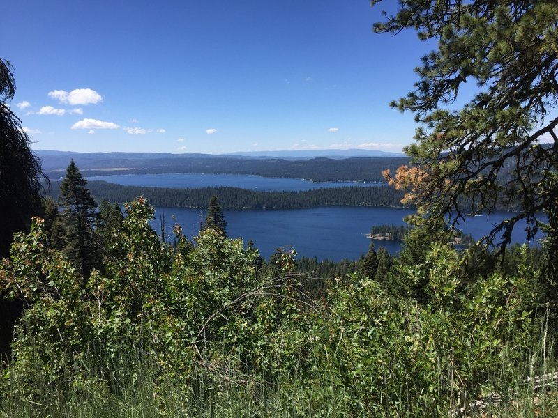 View of Payette Lake from the trail.