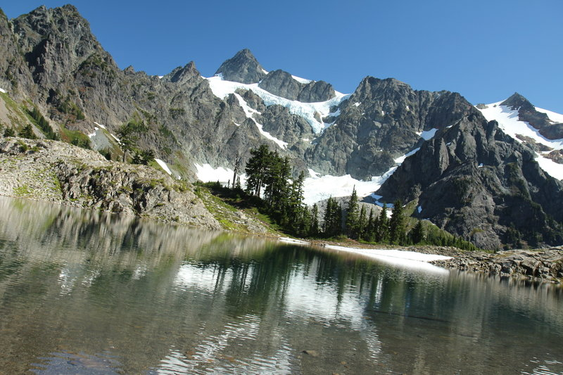 Mount Shuksan from West side of Lake Ann