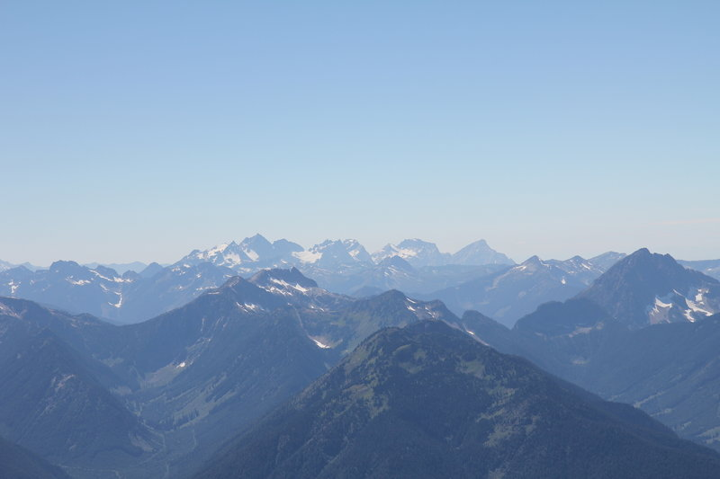 Cheam Range from Mount Outram summit