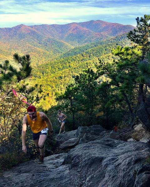 Steep, technical climb to the top of Lookout Mountain.