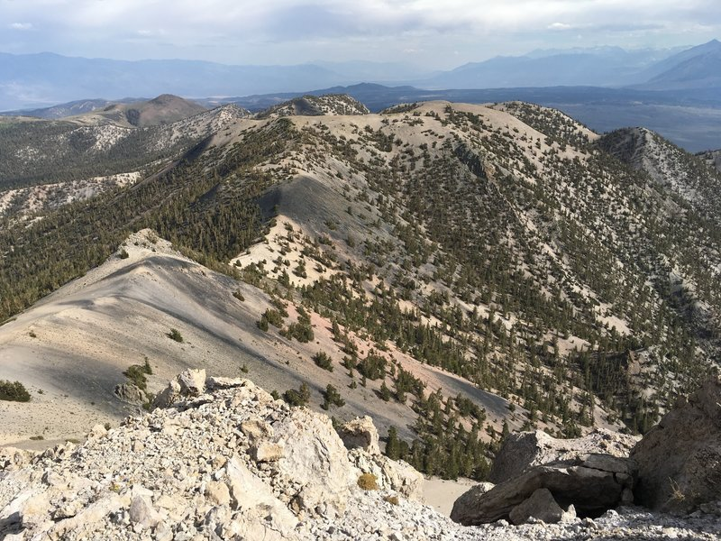 Owens Valley, as seem from the summit of Glass Mountain.