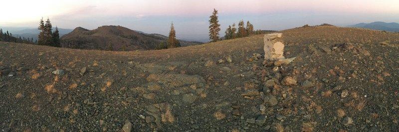 Snow Mountain West summit panorama.