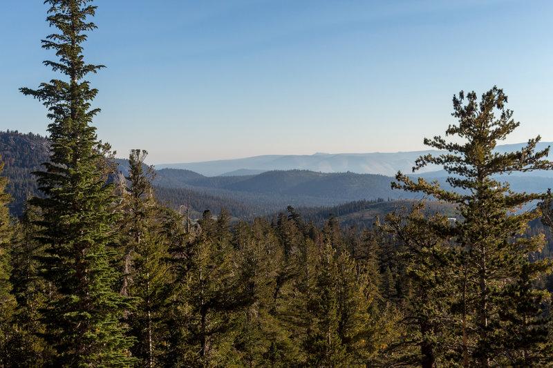 View northwest across Mammoth Lakes