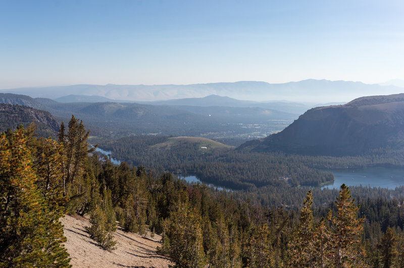 Lake Mary (right), Lake Mamie (middle), and Twin Lakes (left)