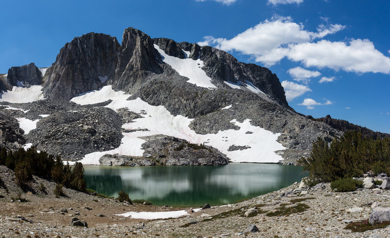Patches of snow above Deer Lakes