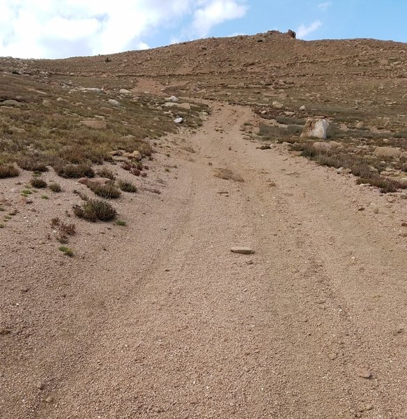 Almost there-the summit of Almagre Mountain.