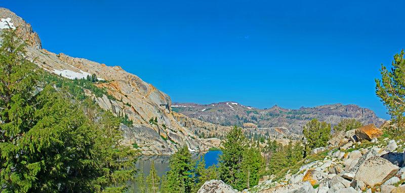 Ridge Lake and East Flange Rock