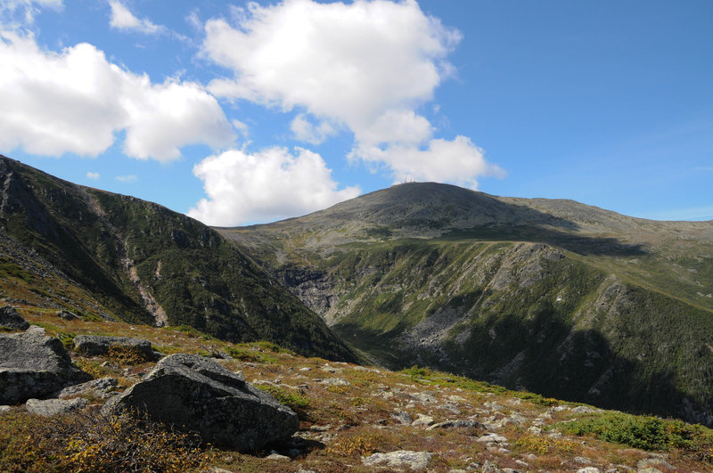 A view towards Mt. Washington from near the top of Boott Spur.
