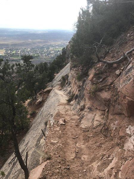 Steep narrow trails near the Cap.