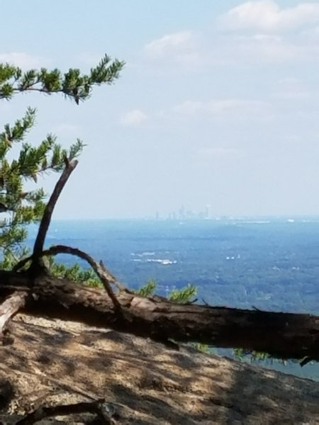 Charlotte in the distance on a hazy afternoon.
