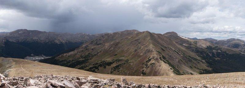 Looking at Vasquez Peak from Stanley Mountain summit.