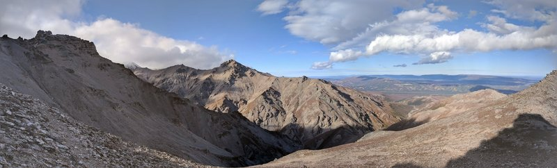 Looking North from near the summit, the views are stunning in every direction!