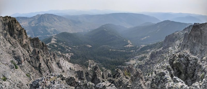 The view to the east from the plateau above the third major climb.