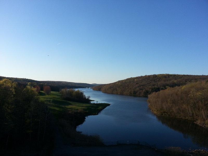 Prompton Lake from the dam.