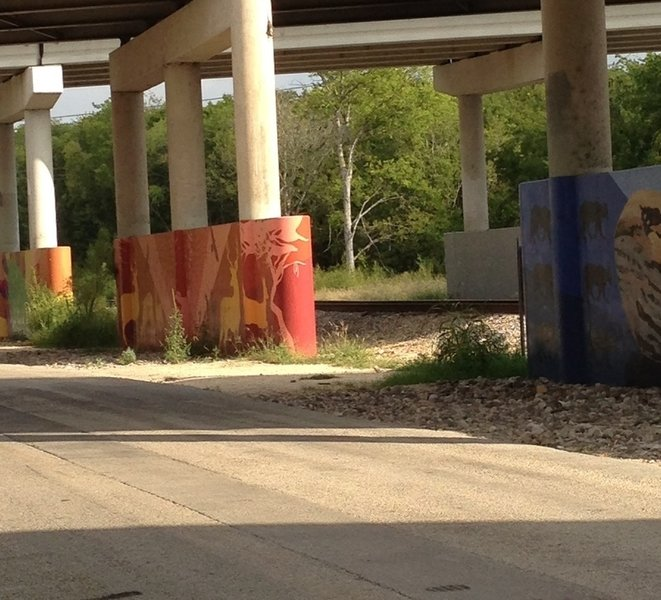 Murals on the edge of the back loop.