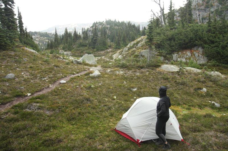 Camp at Upper Semaphore Lake