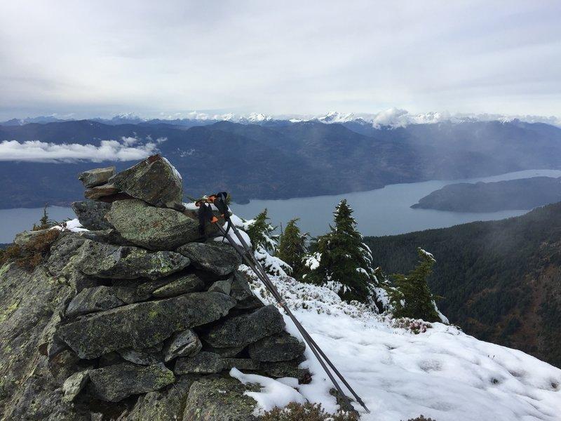 Slollicum Peak summit cairn