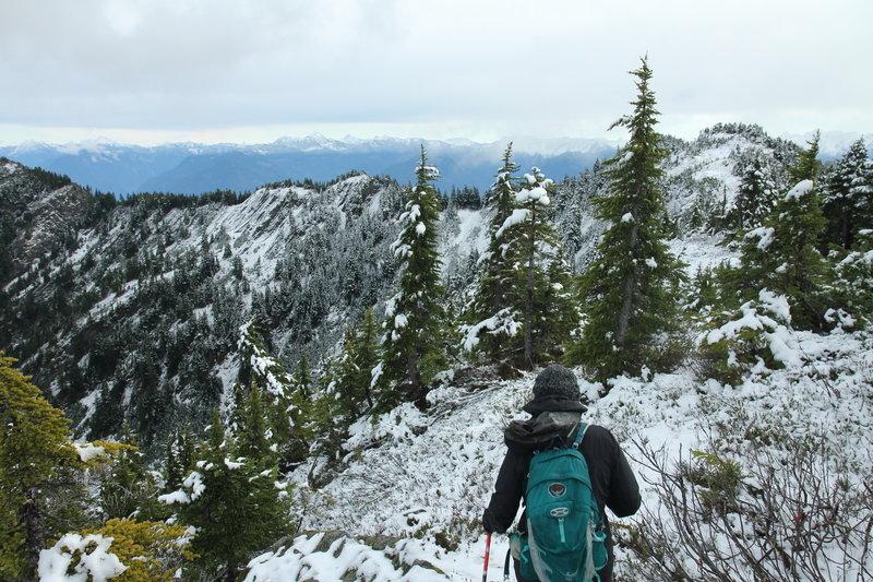 Summit ridge leading to Slollicum Peak