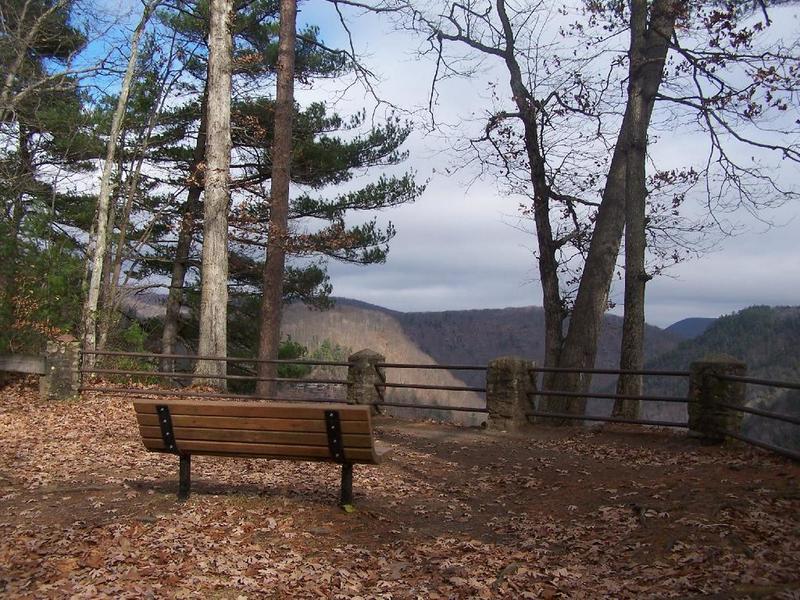 Bench on Rim Trail.
