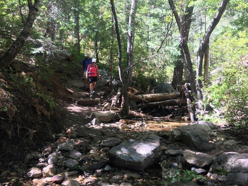 Creek crossing on Marshall Gulch