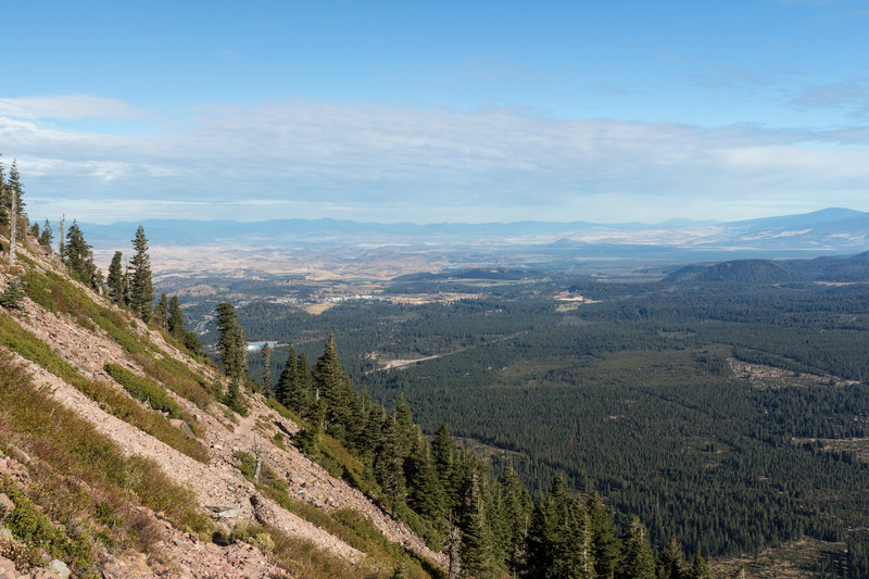 It's a steep rock ascent, but stunning views are all around Black Butte!